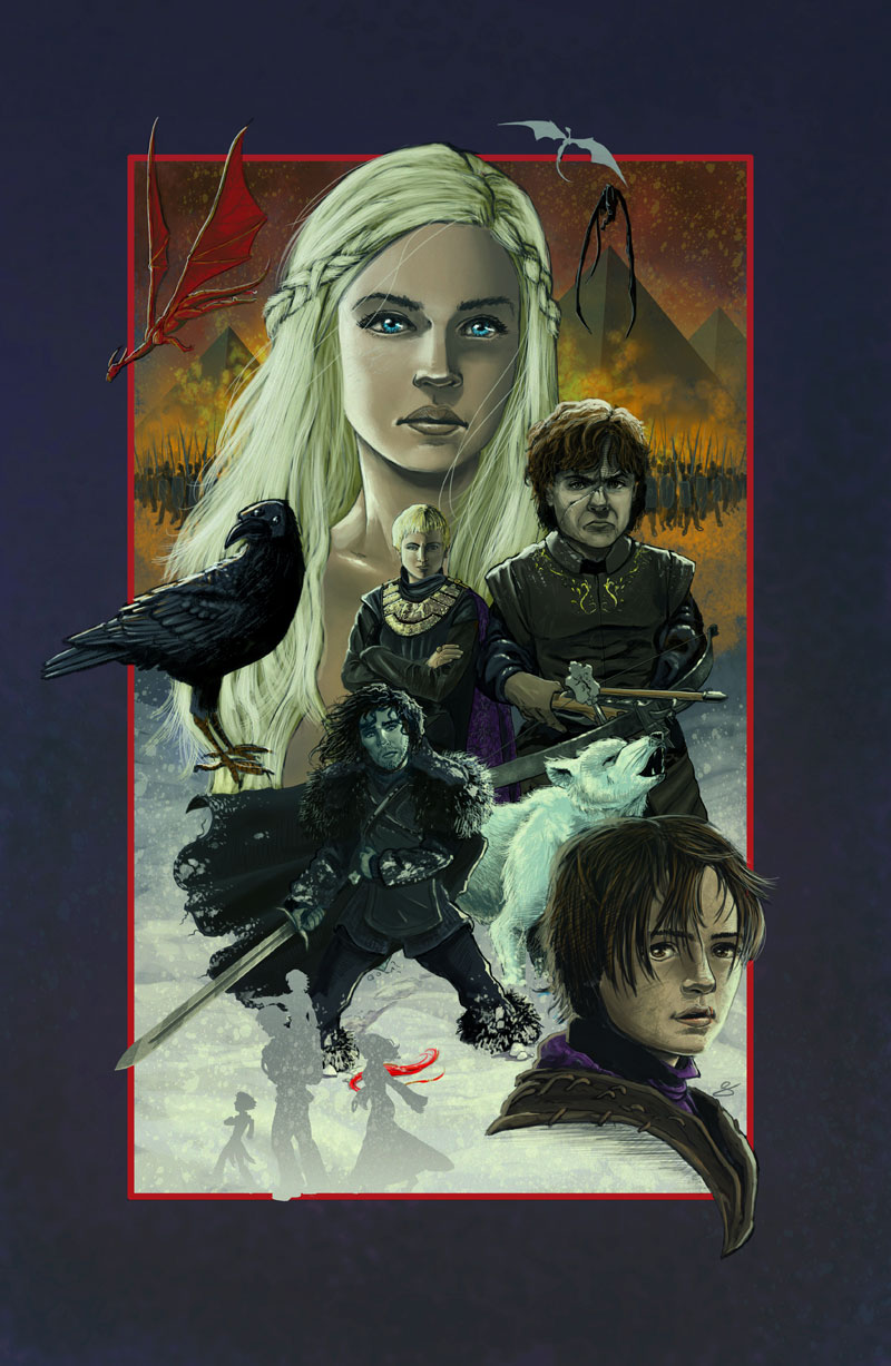 Game of Thrones Season 3 poster by Eric Summers