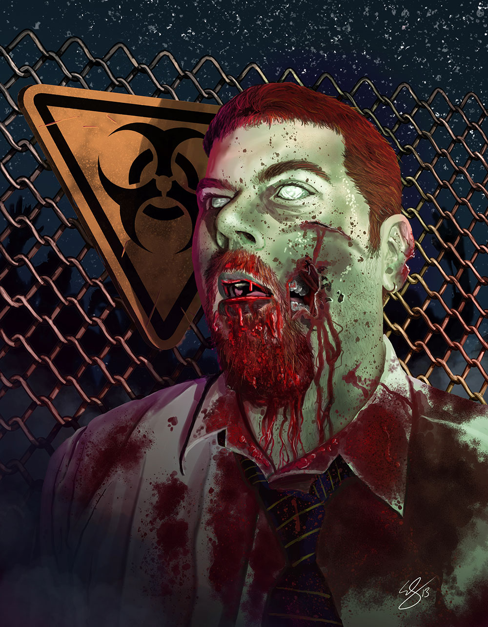 Eric Summers zombie self-portrait
