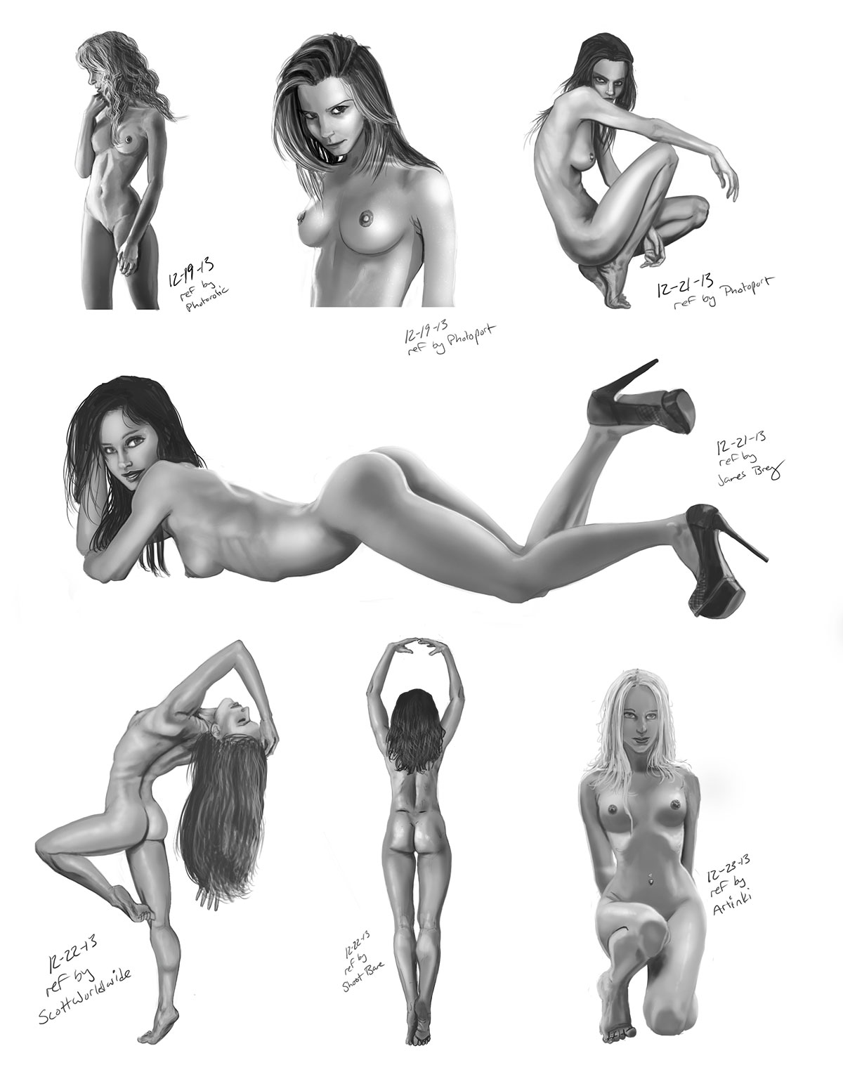 Female Anatomy and value studies | That Summers Guy