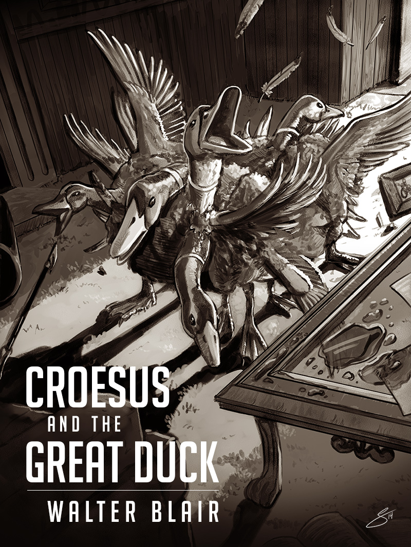 cover image for Croesus and the Great Duck, an e-book by Walter Blair